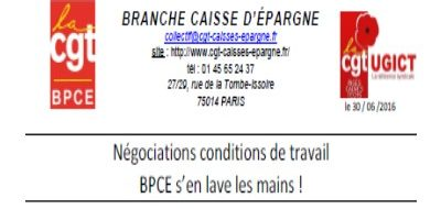 CONDITIONS TRAVAIL